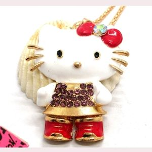 New Betsey Johnson kitty necklace